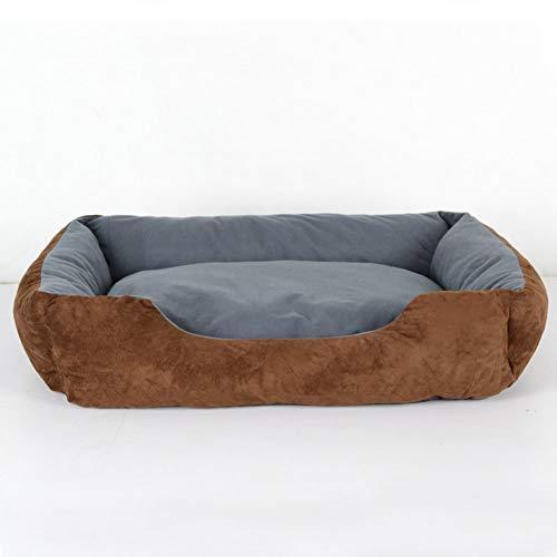 MJY Cama grande para perros Samoyedo, Camas para mascotas lavables de perrera para interiores, Cojín de cama cuadrado suave para nido de mascotas