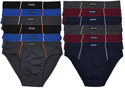 12 oder 6 weiche 100% Baumwolle Herren Sport Slips in schönen Farbkombinationen und Muster mit und ohne Eingriff 12er 6er Spar Pack Slip Herrenslip Jungen Man 12 x Farbset 08