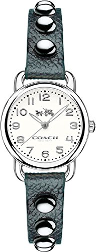 Coach 14502351 Ladies Delancey Black Leather Strap Watch