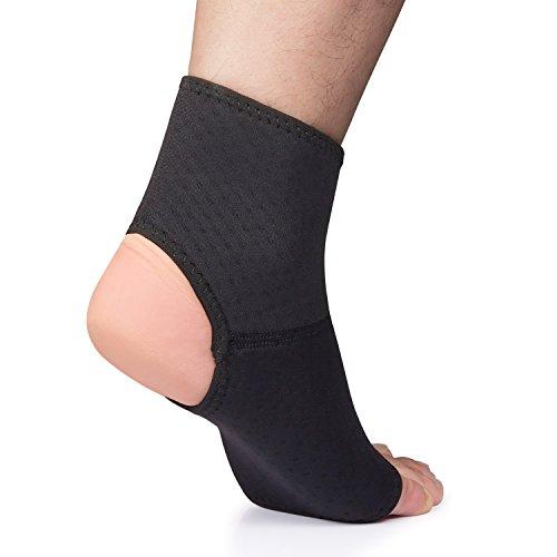 Neopren Fußgelenkbandage, Will Serie Sprunggelenkbandage unterstützen den Fuß beim Lauf, Handball, Fußball, Volleyball usw.–Knöchelbandage geeignet für Damen&Herren -B-S