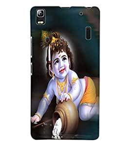 ColourCraft Lord Krishna Design Back Case Cover for LENOVO A7000 PLUS