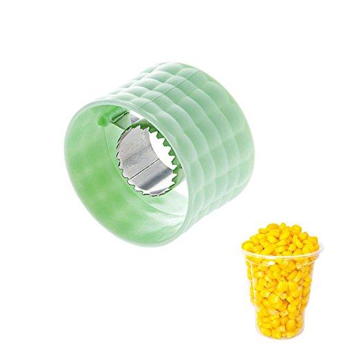 COB Mais Stripper, kreative Küche Gadgets, litoon Mais Stripper COB Cutter entfernen, Edelstahl Corn Cob Schäler Entferner, schälen Mais Getreide 3Pack, grün -