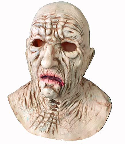 Ning Night Halloween Dekoration Männlich Hexenkopf Gesetzt Horrormaske Latexmaske Hohe Simulation - Männliche Zirkus Kostüm