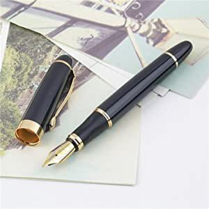 Red Rock Jinhao X450 Black And Golden M Nib Fountain Pen