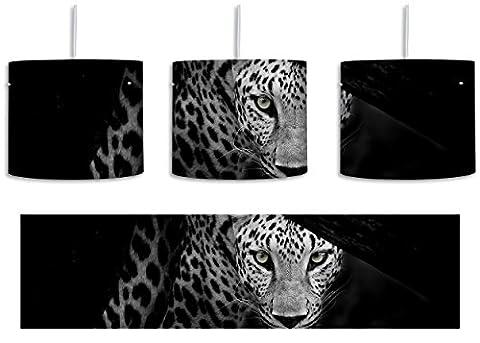 Neugieriger Gepard Schwarz/Weiß inkl. Lampenfassung E27, Lampe mit Motivdruck, tolle