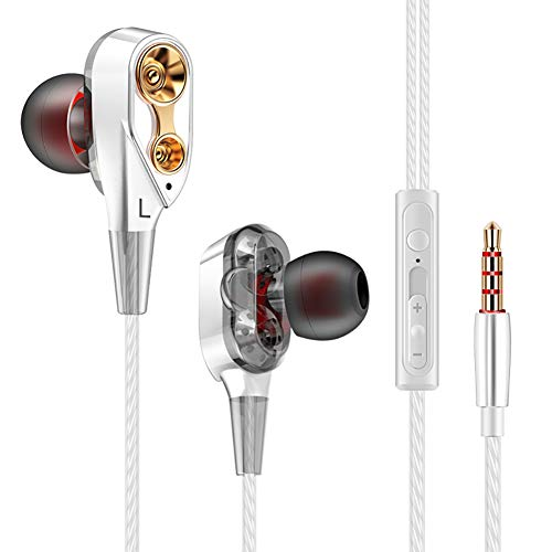 LQUYY In-Ear-Doppel-Action-Spielkopfhörer HiFi Sound Quality Ilive Earphones,White