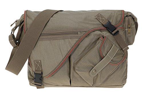 ELEPHANT Kuriertasche SAHARA Laptoptasche Canvas Tasche Notebookmaß 39x28 cm Schultertasche / OLIV
