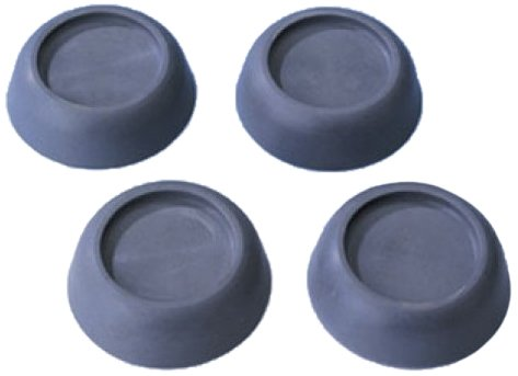 Wenko Vibrationsdämpfer, 4er Set, Ø 4,5 x 2 cm, grau