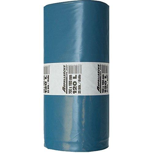 Müllsäcke 120Liter extra stark 25 Stück 80 my LDPE | Müllsack blau | Abfallsäcke
