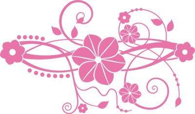 Adesivo sticker con fiori swarovski per i fiori soggiorno (69x40cm // 045 rosa chiaro // elemento di swarovski set 12 pz)