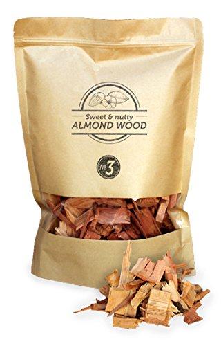 Smokey Olive Wood 1,7 litre de copeaux de bois d'amandier pour fumer, taille des copeaux 2 cm - 3 cm