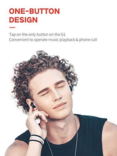 HAVIT TWS Bluetooth Kopfhörer Kabellose in Ear V5.0, True Wirelss Stereo Sport Ohrhörer, IPX5 Wasserdicht, 18 Stunden Abspielzeit, Eingebautes Mikrofon für iPhone,Samsung und Huawei, HTC,G1 Schwarz - 5