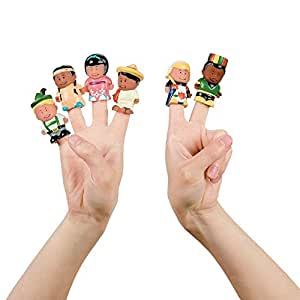 Multicultural Kids Around The World Finger Puppets