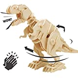 Think Gizmos Interactive Wooden Model Kits for Kids (Walking T-Rex)
