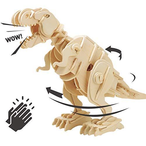 Think Gizmos Soundgesteuertes gehendes T-Rex-Set TG715 - Bauen Sie Ihren eigenen lustigen Dinosaurier für Kinder im Alter von 10, 11, 12, 13+ Jahren (Spielzeug Für Jungen Im Alter Von 11)