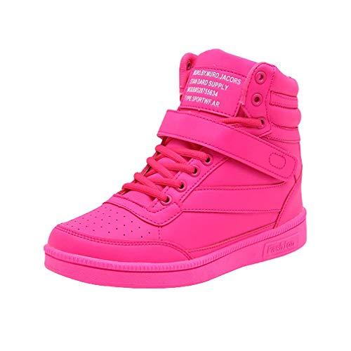 Hongxin Mesdames Hiver Chaud Chaussures Sauvage Talons Hauts Casual Léger Respirant en Plein Air École Travail Velcro Baskets Résistant À l'usure
