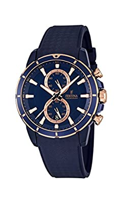 Festina F16851/1 - Reloj de pulsera hombre, Caucho, color Azul de Festina
