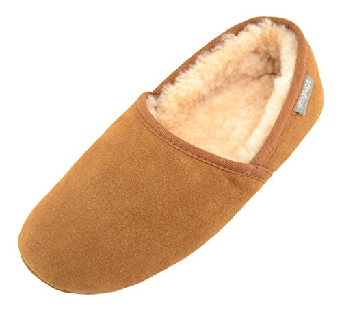 Snugrugs Herren Harry, Sheepskin Loafer Slipper Hausschuhe Brown (Chestnut)