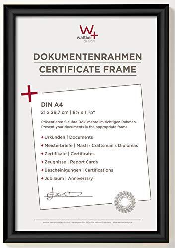 walther design KP130B Trendstyle Kunststoffrahmen 21 x 29, 7 cm, Schwarz