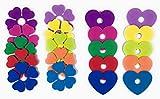 40x Party Glasmarkierer/Stielglas-Marker für Weinglas, Sektglas oder Cocktailglas, Ø 7,5cm in Herz- und Blütenform