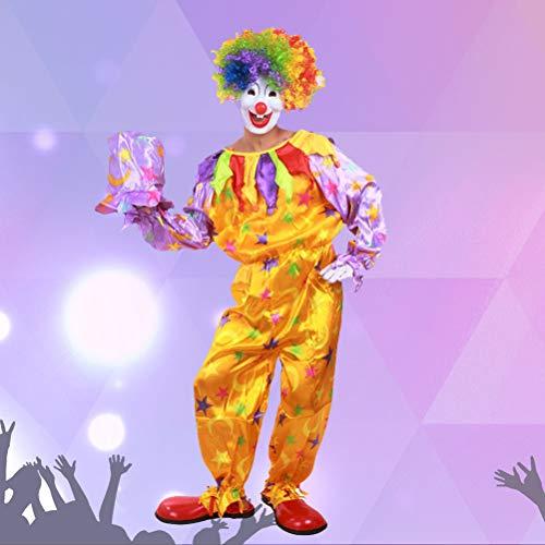 Amosfun 1pcs Beautiful Creative Makeup Carnival Cute Clown Kostüme Clown Kostüme Sets for - Aviator Womens Kostüm