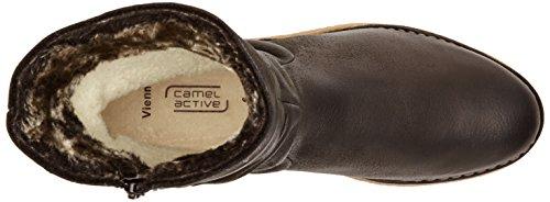 camel active - Bubbles, Stivali da Donna Nero(Schwarz (Black))