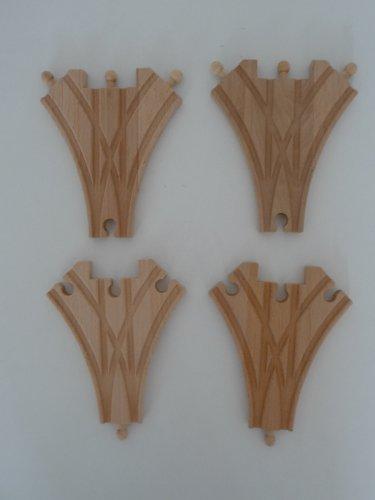 point-kids Holzeisenbahn 4x Weiche 1in3 Holz Set 4 Teile