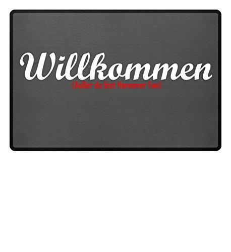 Fußmatte Anti Hannover in grau - Lustige Fußball Schmutzfangmatte gebraucht kaufen  Wird an jeden Ort in Deutschland