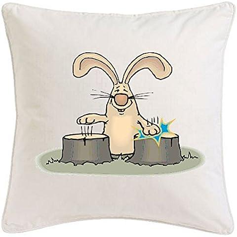 funda de la almohada de conejo tambores 40x40cm Cartoon Fun Fun Fun Fun película de culto Top Cartoon película de culto Para microfibra ... regalo ideal y la decoración de buen gusto para cada sala de estar o el dormitorio