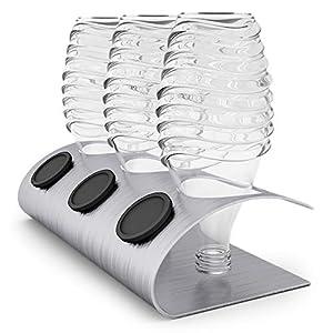 nobellgo Abtropfhalter kompatibel mit Sodastream Crystal Glaskaraffen Flaschen, Zubehör, aus Edelstahl inklusive…