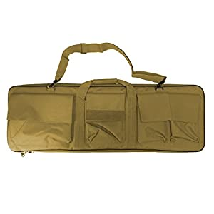 Étui Valise Sac Fusil bretelles Sangle d'épaule réglable pour la chasse airsoft Tan