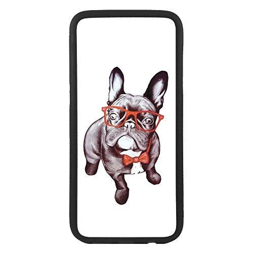 custom-cases Hülle Tasche TPU für alle die Mobile mit Gestaltung von Bulldog Frances Sonnenbrille - iPhone 6