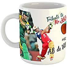 Gen7 Tribute to AB De Villiers Printed Coffee Mug | Emotional Feeling Perfect Gift for AB Fans | 350 ml (Ceramic Coffee)
