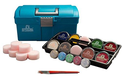 koffer Outdoor mit Farben, Pinseln, Glitzer und 10 Schwämmchen (Fett Kostüme Amazon)