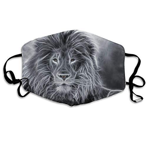 Vbnbvn Unisex Mundmaske,Wiederverwendbar Anti Staub Schutzhülle,African Lion Sketch Unisex Fashion Mouth-Masks Washable Safety 100% Polyester Comfortable Breathable Health Anti-Dust Half Face Masks