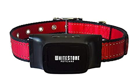 The Barking Control Collar by WhiteStone Petcare - | Red | 1 Year Warranty Quality Guarantee | An Automatic Anti Bark Device for Barking Dogs, with Advanced Bark Detection Technology | Adjustable and Ergonomic Collar Suits all Dogs; Small, Medium and Large | Pet Friendly Design Produces Sound and Vibration, does not Spray or Shock |