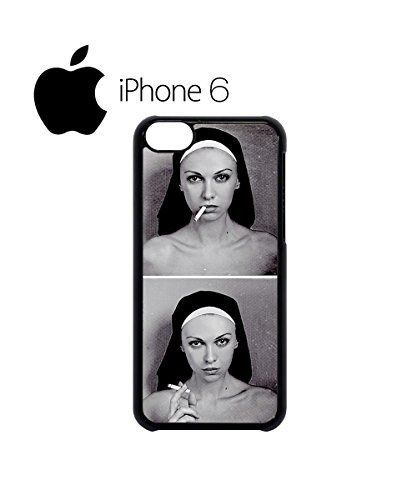 Smoking Nun Bad Cool Dope Swag Mobile Phone Case Back Cover Hülle Weiß Schwarz for iPhone 6 Black Weiß