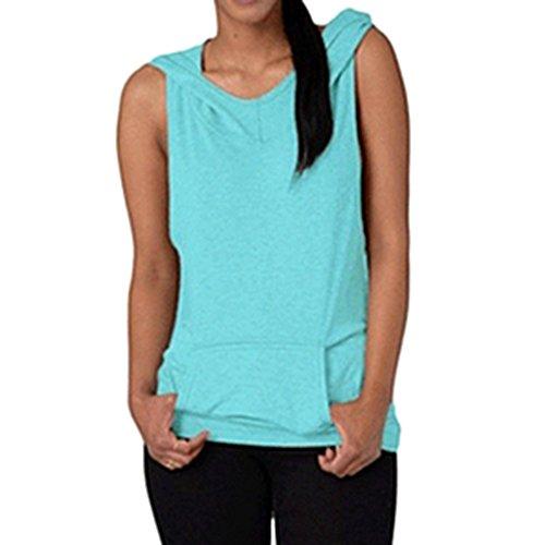 MEIHAOWEI Fitness Backless Femmes Cross Yoga Sport T-Shirt Bleu