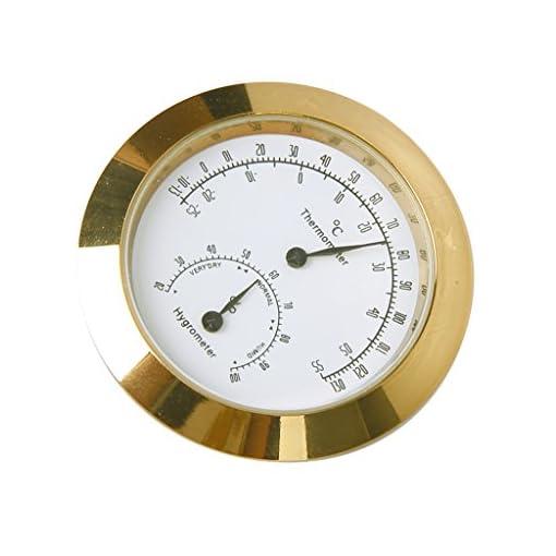 Thermometer-Hygrometer-fr-Instrumentenkoffer-runde-Form-goldfarben