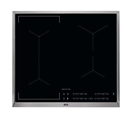 AEG IKE64441XB Autarkes Kochfeld / Induktion / Hob²Hood / Slider-Bedienung / 60 cm / Edelstahlrahmen / 4 Kochzonen / Bridge-Funktion / Powerfunktion / Kindersicherung