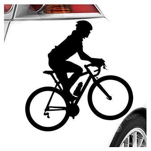 Kiwistar Rennrad Fahrrad Figur Aufkleber Sticker 25 Farben Neon Matt