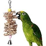 BESTEU Animale Domestico Uccello Masticare Pappagallo Parrot mordere Paglia Palla Campana Gabbia Appeso Giocattolo rosicchiare Giocattoli