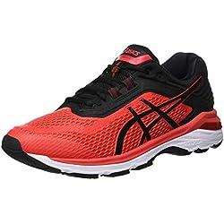 Asics Gt-2000 6, Zapatillas de Entrenamiento para Hombre, Rojo (Red Alert/Black 600), 44 EU