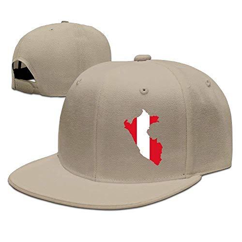 Peru Flag Map Unisex Snapback Adjustable Flat Bill Baseball Cap cap -
