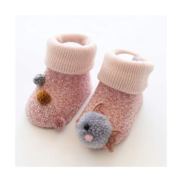 ZOOMY Baby Boy Girl Infant Kid First Walkers Sock Calcetín Antideslizante Suela para Suelo - purle 4