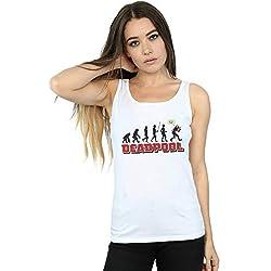 Marvel Mujer Deadpool Evolution Camiseta Sin Mangas Blanco Small