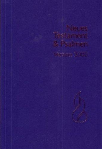 Schlachter N.T. & Psalmen: Schlachter 2000, Grossdruckausgabe, Broschiert, Blau