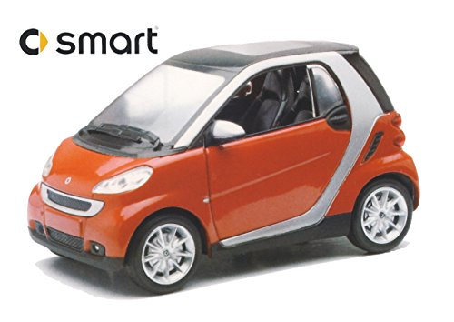 New Ray 71032-Smart Fortwo, Rot, Maßstab 1: 24, Die Cast, Window Box (Auto Smart)