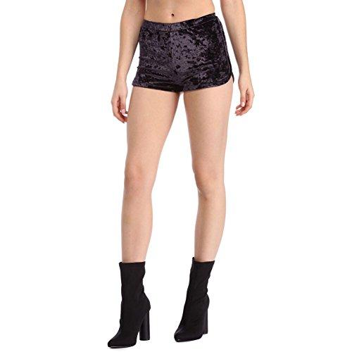 Moresave Donna Velvet Breve Fashion Casual Shorts Stretch Hot Pants