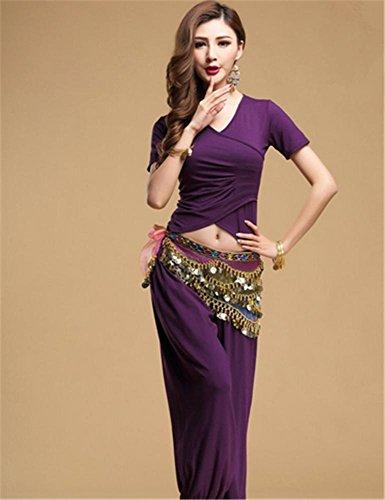 Femmes usure de danse du ventre / 2 PCS / coton modal usure usure de yoga Violet